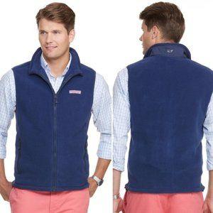 Vineyard Vines   Men's Blue Fleece Harbor Vest XXL